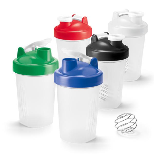 Shaker plástico PP com escala de medição em ml e fl oz – SH001