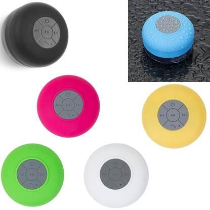 Caixa de som resistente à água em ABS com acabamento emborrachado – TC017