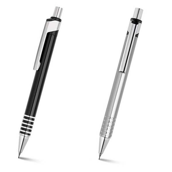 Lapiseira em alumínio peças nas cores preta e prata – LS001