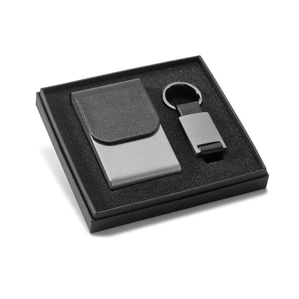 Kit com porta cartões e chaveiro – OE017
