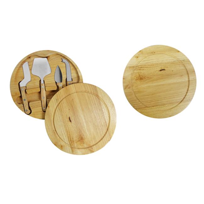 Kit queijo em madeira com 5 peças – GA013