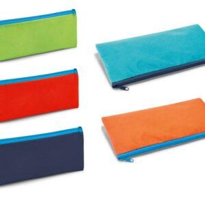 Estojo para lápis em Non-woven: 100 g/m². Peças nas cores azul