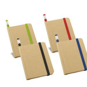 Bloco de anotações capa dura com 70 folhas não pautadas de papel reciclado