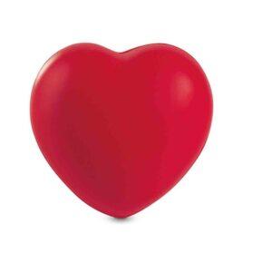 Anti-estresse em formato de coração. Peça na cor vermelha.