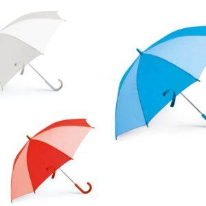 Guarda-chuva para criança. Peças nas cores vermelha
