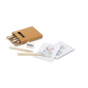 Kit para pintar incluso 6 lápis de cor