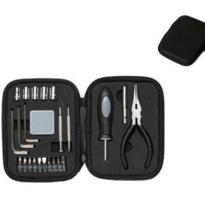 Kit ferramenta 24 peças em estojo sintético com zíper. Possui: 5 extensores bocais(6MM