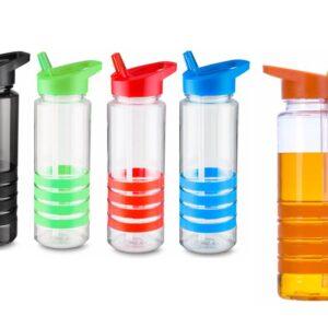 Squeeze plástico 700 ml com apoio de mão emborrachado. Peças nas cores preta
